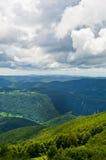 从一座美丽的Beljanica山的顶端一个看法 图库摄影