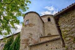 一座老城堡的塔在法国 免版税库存图片