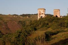 一座老城堡的废墟在Chervonograd村庄  Ukrai 免版税图库摄影