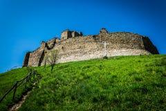 一座老城堡的废墟 库存图片