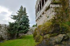 老城堡, Soutomaior, Pontevedra,加利西亚,西班牙 免版税库存图片