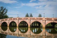 一座老桥梁 库存图片