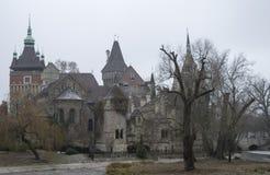 一座老被放弃的城堡 免版税库存照片