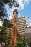 一座老被放弃的灯塔 库存图片