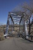 一座老钢桥梁 免版税图库摄影