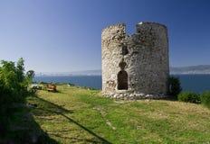 一座被破坏的城堡在保加利亚,内塞伯尔 免版税图库摄影