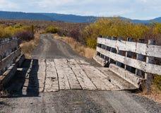 一座车道桥梁,东俄勒冈 免版税图库摄影