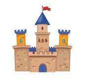 一座逗人喜爱的中世纪城堡的例证 免版税库存图片