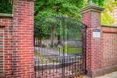 一座重要早期的美国休息处公墓在宾夕法尼亚,费城 库存照片
