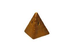 一座金黄金字塔 库存照片