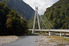 一座长的山桥梁 免版税图库摄影