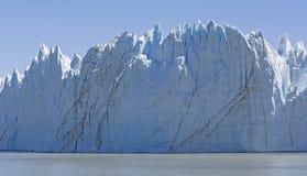一座高山冰川的纯粹面孔 库存照片
