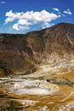 一座活火山的美丽的景色 库存图片