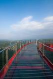 一座U形桥梁的Meisha 10月东部深圳顶点 库存照片