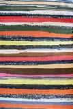 一张惊人的地毯有很多颜色,并且什么没有 库存图片