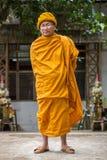 一张未认出的泰国和尚画象 库存照片