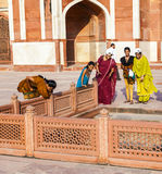 一张照片的印地安游人姿势在 免版税库存照片