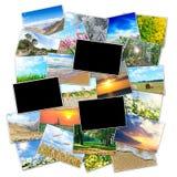 一张照片的框架在本质的背景图片的 免版税库存照片