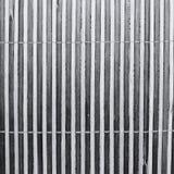 一张竹席子的条纹纹理 图库摄影