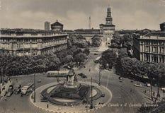 一张老单色明信片 免版税图库摄影