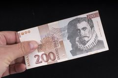 一张老斯洛文尼亚钞票 图库摄影