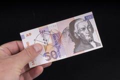 一张老斯洛文尼亚钞票 库存图片