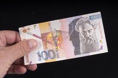一张老斯洛文尼亚钞票 免版税库存图片