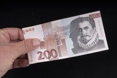 一张老斯洛文尼亚钞票 免版税库存照片
