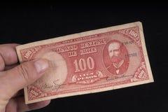 一张老智利钞票 免版税库存照片