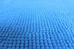 一张软的地毯的蓝色纹理 库存图片
