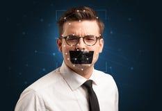 一张面孔的公认通过分层堆积滤网 库存照片