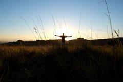 一张画象在西西里人的草甸 库存照片