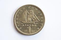 一德拉克马希腊人硬币 库存图片