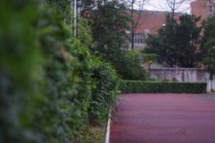 一所中学的操场在中国 免版税库存图片