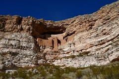 一所古老住宅, Montezuma城堡在亚利桑那 免版税图库摄影
