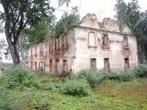 一所老庄园住宅的遗骸 库存图片