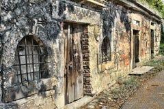 一所老监狱在城市 免版税库存图片