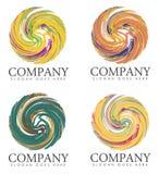 一批公司口号商标 库存图片