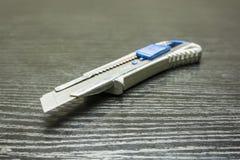 一把公共刀子的锋利的刀片 免版税库存图片