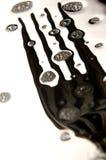 一把叉子的细节与泡沫的 免版税库存照片