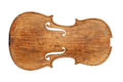 一把古色古香的小提琴的顶面板材 图库摄影