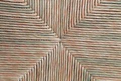 一把古色古香的椅子的修补工作在长方形形状的 免版税库存照片