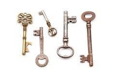 一把古色古香的钥匙 库存图片
