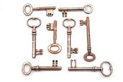 一把古色古香的钥匙 免版税库存照片