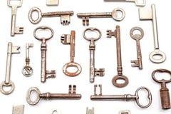 一把古色古香的钥匙 免版税图库摄影