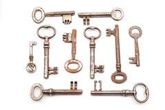 一把古色古香的钥匙 库存照片