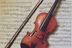 一把小传统小提琴 免版税库存照片