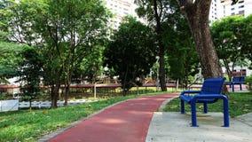 一把椅子在公园背景中 库存图片
