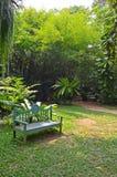 一把椅子在庭院里 免版税库存图片