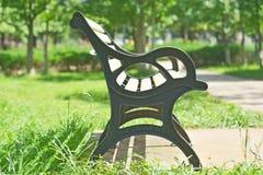 一把椅子在庭院里 免版税库存照片